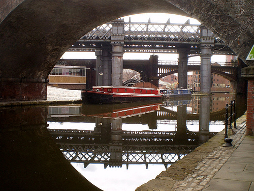 Canal in Castlefield, Manchester