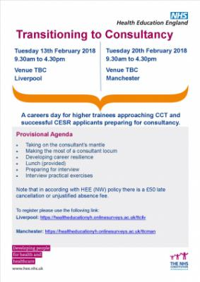 Transition to Consultancy | Health Education North West